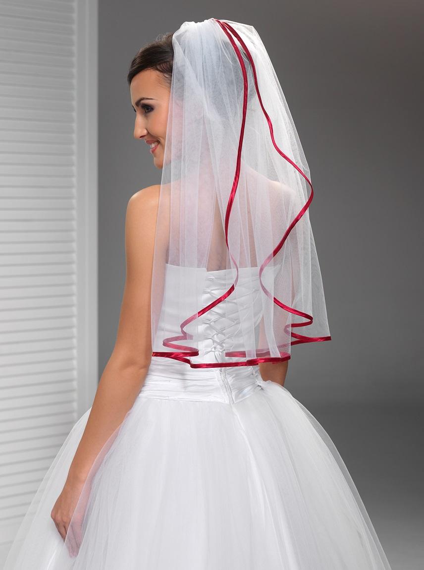 W56 amelia fashion for Brautschleier ivory einlagig